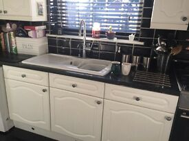 Complete white kitchen solid no damage for sale in Taverham