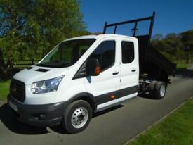 FORD TRANSIT 350 125PS CREWCAB TIPPER 15 REG 78,000 MILES
