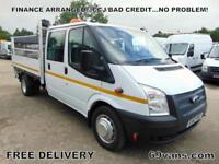 2013 62 FORD TRANSIT 125BHP DROPSIDE PICK UP CREW CAB AIRCON HIGHWAY MAINTENANCE