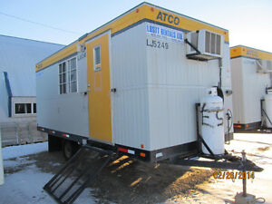 8x20 Wheeled Office Trailer For Rental