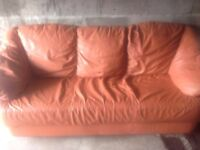 Lovely 3 seater leather sofa - can deliver for petrol