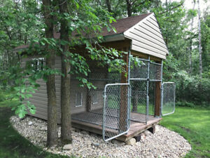 Duplex dog house / trade for enclosed trailer