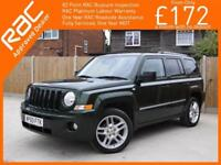 2010 Jeep Patriot 2.2 CRD Turbo Diesel Overland 6 Speed 4x4 4WD Sat Nav Bluetoot