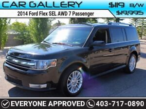 2014 Ford Flex SEL AWD 7 Pass $/119B/W YOU'RE APPROVED-QUICK  EA
