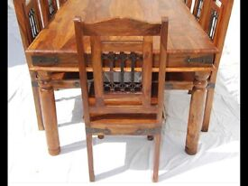 Quality solid wood Dining table and 6 chairs