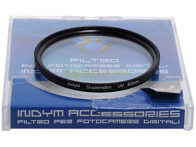 62mm. Filtro UV Superslim IndyM. Ultra violet filter.