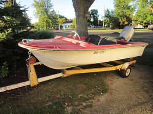 13 foot Sears boat with 40 hp evinrude