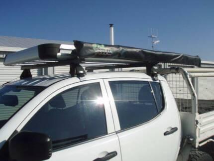 Roof rack - Rhino rack, Pioneer basket & awning Queanbeyan Area Preview