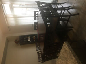 Pub Height Kitchen Table  + 8 chairs.