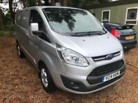 FORD TRANSIT CUSTOM 290 LIMITED LR P-V, ford service history, air con, Silver, M
