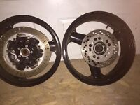 Kawasaki ZX7R wheels with rotors