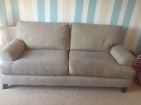 Next Foam & Microfibre Large Four Seat Sand Sofa