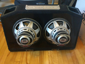 Subwoofer box and subs $175