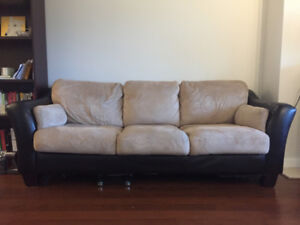 Large, comfy, brown Couch for sale ($100)