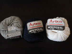 Lot of 14 rolls of italian wool yarn knitting supplies assorted London Ontario image 10