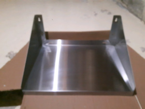 Commercial or residential stainless steel microwave shelf