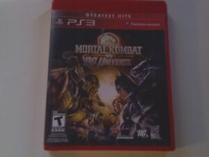 Jeu playstation 3 Mortal Kombat vs Dc Universe 10$
