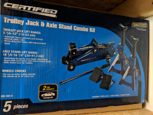 2 Ton Trolley Jack & Axle Stand Combo Kit from CERTIFIED