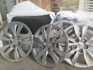Set steel rims and tyres Michelin