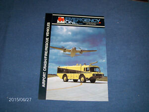 VINTAGE EMERGENCY ONE INC. COLOR BROCHURE-AIRPORT RESCUE VEHIC.