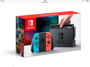 Nitendo Switch neuf / modèle Rouge & Bleu