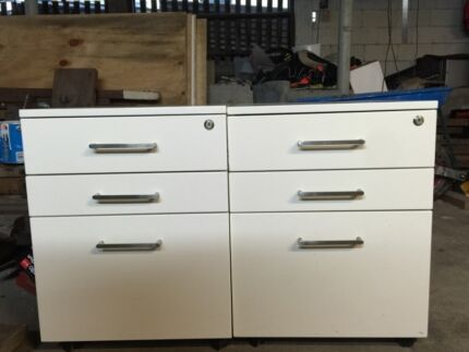 Filing Cabinet 3 Drawer White  Norman Park Brisbane South East Preview