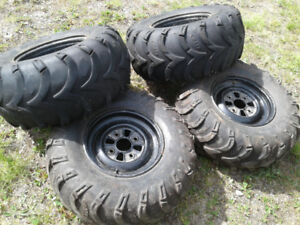 Honda four wheeler rims and tires