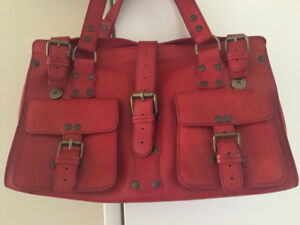 Browns red leather satchel