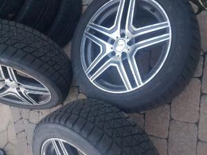 "Mags 19"" Mercedes pneu 10/32 255/50/19 Bridgestone Blizzak DM-V2"