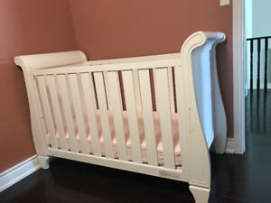 Crib with Mattress and Baby furniture