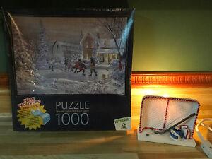 Puzzle Les six équipes d'origine (1000 pcs) NEUF et LAMPE hockey