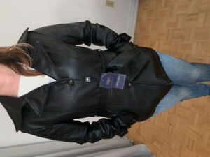 Emporio & Co women's jacket ,colour black ,leather.Very nice,New