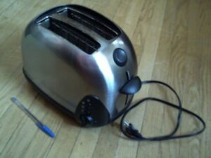 KENMORE 2 SLICE BRUSHED STAINLESS TOASTER