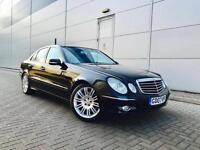 2007 07 reg Mercedes-Benz E320 3.0 CDI Sport + BLACK + PANORAMIC GLASS ROOF +