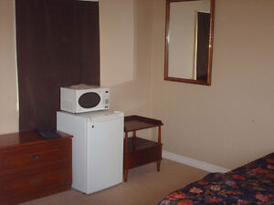 Clean furnished rooms at safe, quiet motel