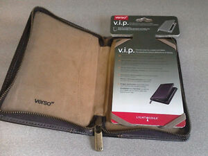 New Leather-Like Zippered  Cover for E-Readers and Tablets