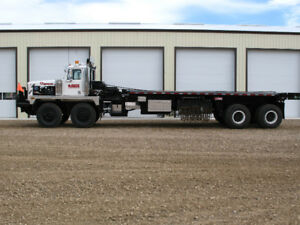 WESTERN STAR BED TRUCKS AND 24 WHEEL LOWBED