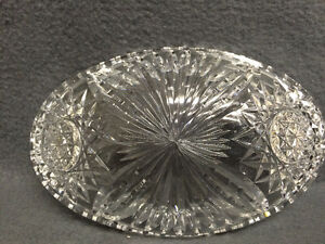 Collectible Antique Crystal Oval Candy Dish London Ontario image 4