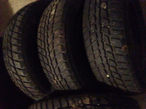 185 70 r 14 winter tires for sale 150.00 obo 5 bolt