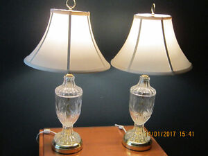 Crystal Tri-Light End Table Lamps Exc. Cond. $150.00 or B. O.
