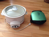Moving Sale - Slow cooker (Crock-pot) and Portable grill