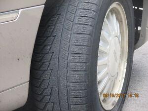 4 NOKIAN, ALL WEATHER, PLUS 1 MICHELIN, ALL SEASON, ALL ON RIMS