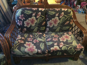 Bamboo loveseat and matching chairs (2sets)