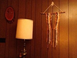 Gold and brown Macrame wall hanger