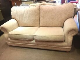 Cream Nearly New 3 Piece Suite - Harvey's Sofa + 2 Armchairs - CAN DELIVER