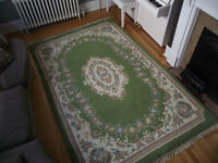 100 % Wool French Aubusson Style Hand Knotted Area Rug