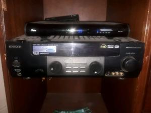 Kenwood surround sound sytem with speakers