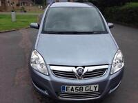 Vauxhall Zafira 1.6i 16v 115 Exclusive, 7 Seater. Mot June 2017