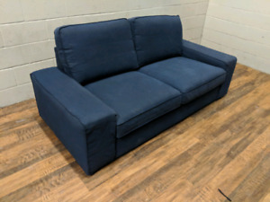 Ikea Kivik loveseat in dark blue covers. FREE DELIVERY