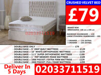 Single Double and king size Divan Crush Bed Available With Mattress